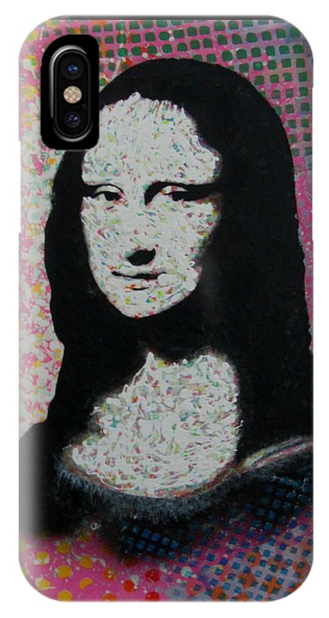 Mona Lisa IPhone X Case featuring the painting Mona Lisa - Smile by Gary Hogben