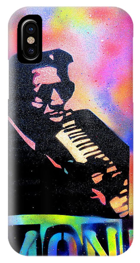 Thelonious Monk IPhone X Case featuring the painting Monk by Tony B Conscious