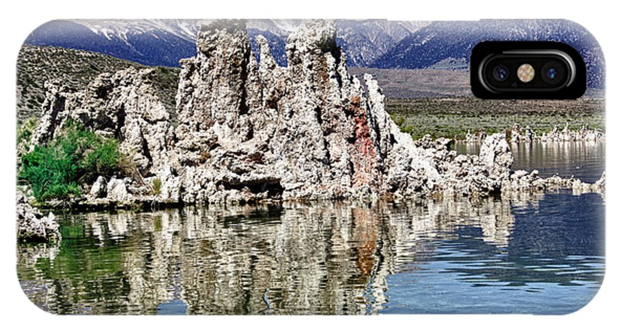 Mammoth Mountains IPhone X Case featuring the photograph Mono Lake Yosemite by Linda Dunn