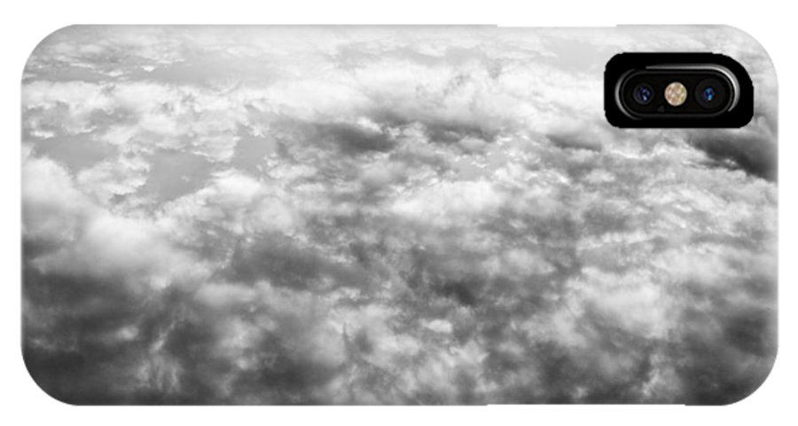 Clouds IPhone X Case featuring the photograph Monochrome Clouds by David Pyatt