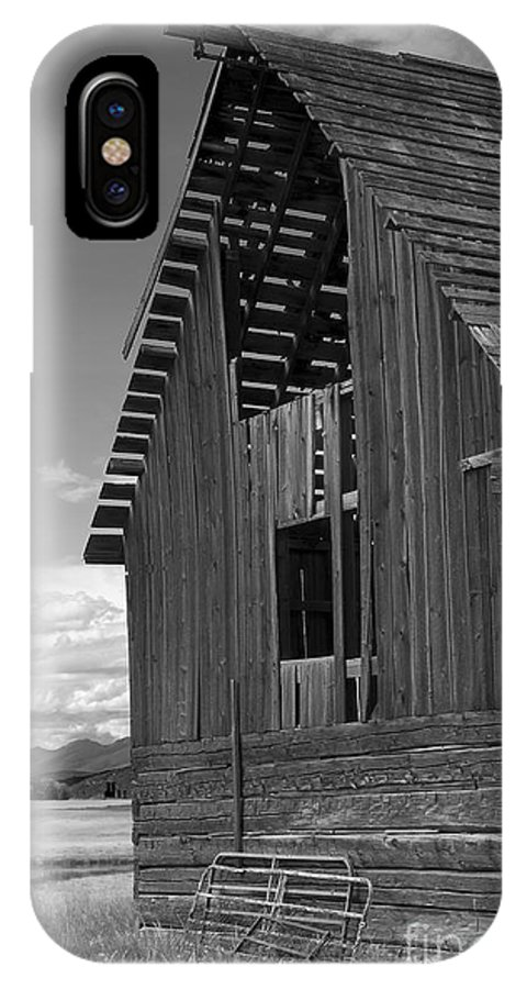 Sandra Bronstein IPhone X Case featuring the photograph Montana Weathered Barn by Sandra Bronstein