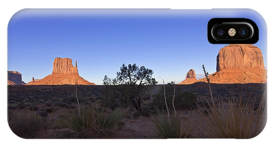 Monument Valley IPhone X Case featuring the photograph Monument Valley by Mike Herdering