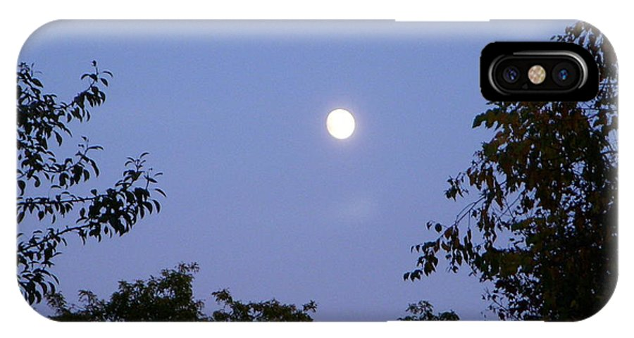 Moon IPhone X Case featuring the photograph Moon by Aimee L Maher ALM GALLERY