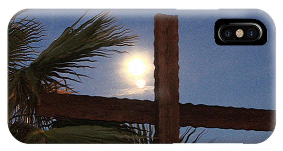 Original IPhone X Case featuring the photograph Moon Rising Four by Carl Deaville