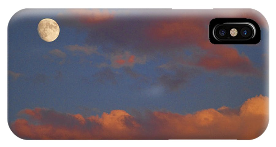 Luna IPhone X Case featuring the photograph Moon Sunset by James BO Insogna