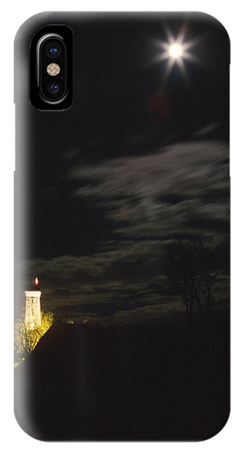 Castle IPhone X Case featuring the photograph Moonlight And Tower by Patrick Kessler