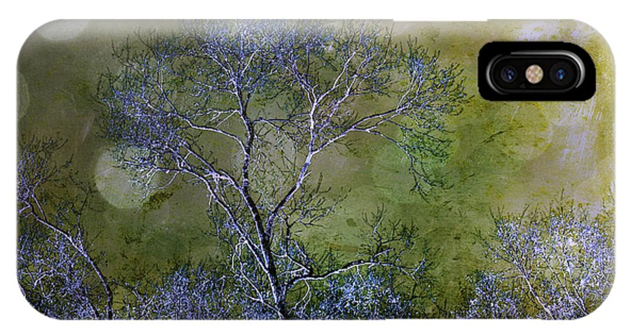 Trees IPhone X Case featuring the photograph Moonlit Night by Judi Bagwell