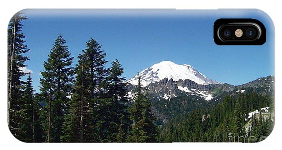 Mt Rainier IPhone X Case featuring the photograph More Mt Rainier by Charles Robinson