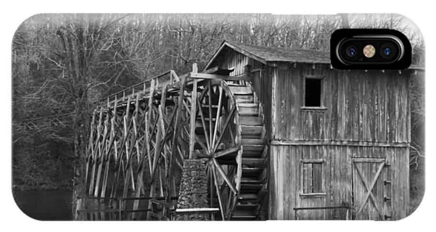 Black IPhone X Case featuring the photograph Morgans Mill Of Arkansas by Nicholas Evans