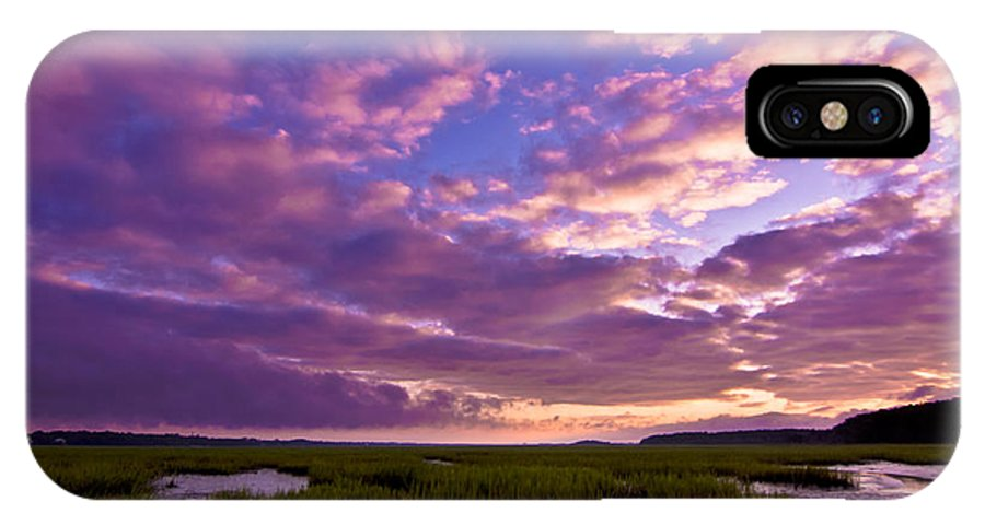 Morning IPhone X Case featuring the photograph Morning Over The Marsh by Matthew Trudeau
