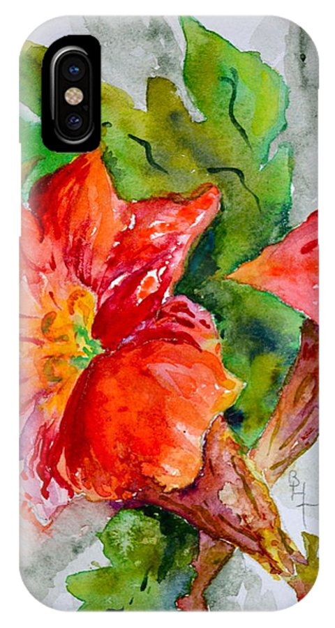 Watercolor IPhone X / XS Case featuring the painting Morning Revelry by Beverley Harper Tinsley