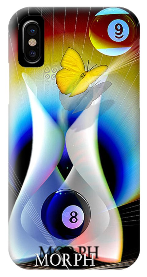Billiards IPhone X Case featuring the digital art Morph by Draw Shots