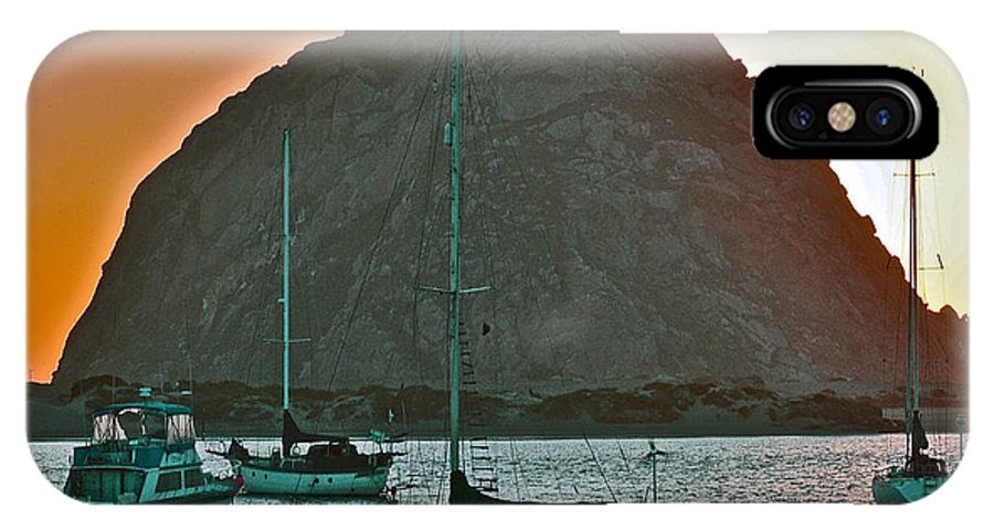 Morro Bay IPhone X Case featuring the photograph Morro Bay Rock by Bill Owen