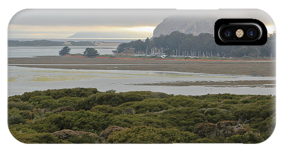 Morro Rock IPhone X Case featuring the photograph Morro Rock From The Elfin Forest by Heidi Smith