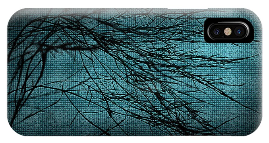 Abstract IPhone X Case featuring the digital art Mosaic Branch by Svetlana Sewell