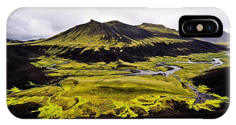 Moss IPhone X Case featuring the photograph Moss In Iceland by Tom and Pat Cory