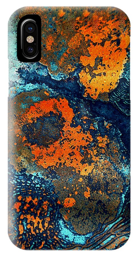 Colette IPhone X Case featuring the painting Mother Earth Nature by Colette V Hera Guggenheim