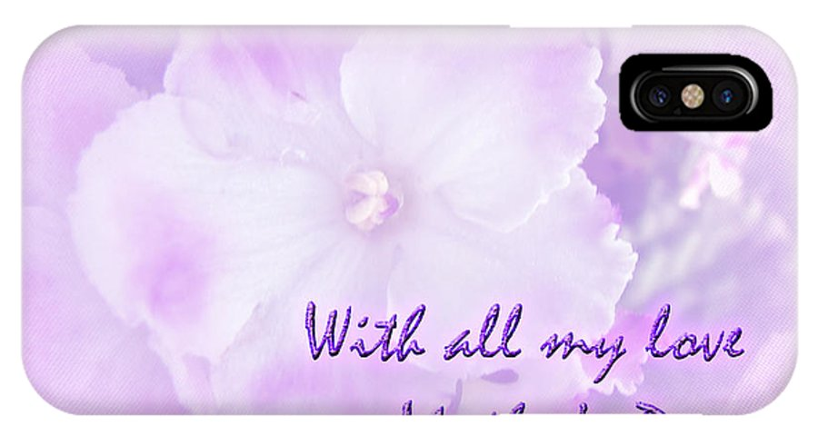 Mothers Day IPhone X Case featuring the photograph Mother's Day Greeting Card - African Violets by Mother Nature