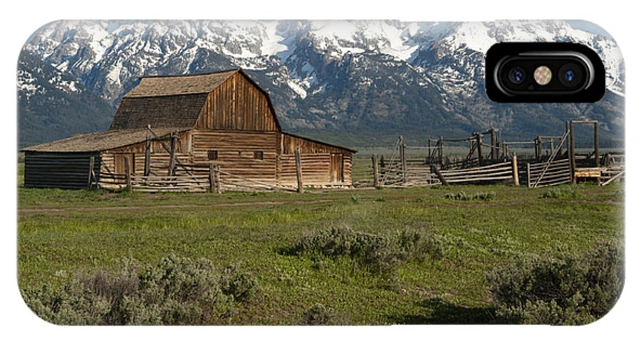 Grand Teton IPhone X Case featuring the photograph Moulton Barn - Grand Tetons by Sandra Bronstein