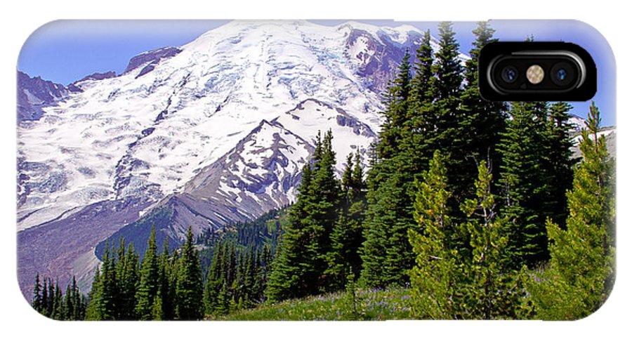 Mount Rainier IPhone X Case featuring the photograph Mount Rainier X by David Patterson