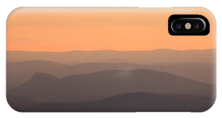 Connecticut River IPhone X Case featuring the photograph Mount Sugarloaf And Connecticut River Valley Topography by John Burk