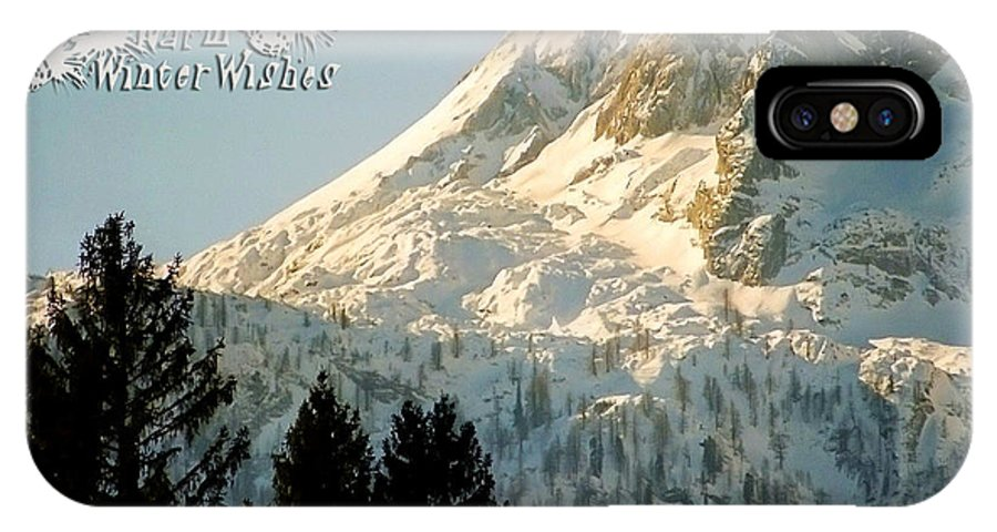Winter IPhone X Case featuring the photograph Mountain Christmas 2 Austria Europe by Sabine Jacobs