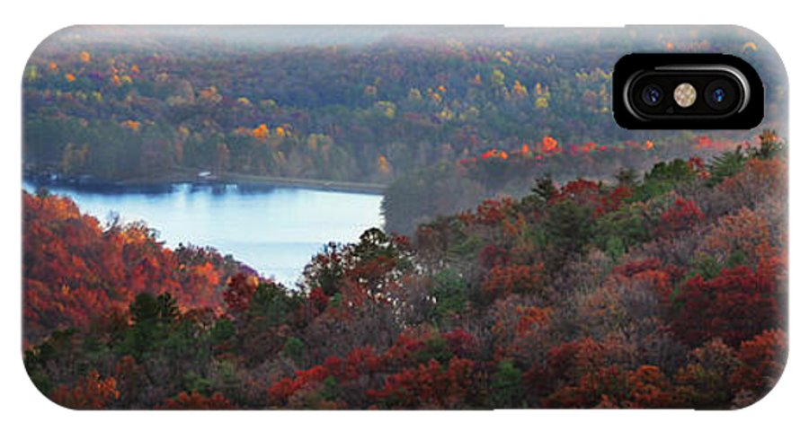 Panoramic IPhone X Case featuring the photograph Mountain Lake by Michael Waters