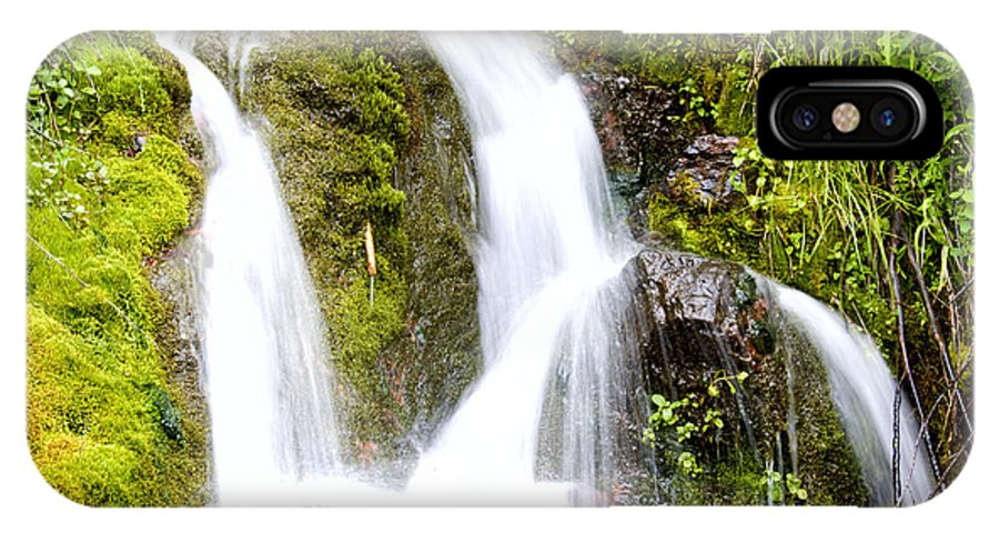Water IPhone X / XS Case featuring the photograph Mountain Spring 3 by Janie Johnson