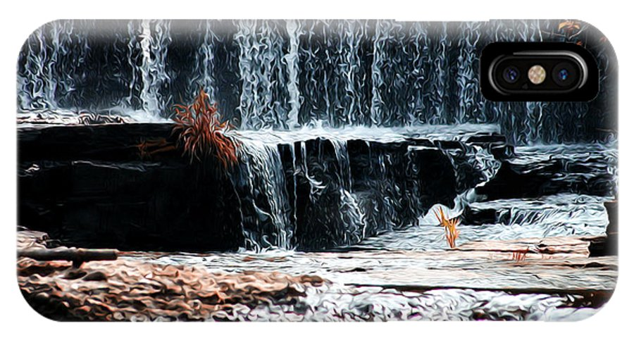 Mountain Stream Waterfall IPhone X Case featuring the photograph Mountain Stream Waterfall by Bill Cannon