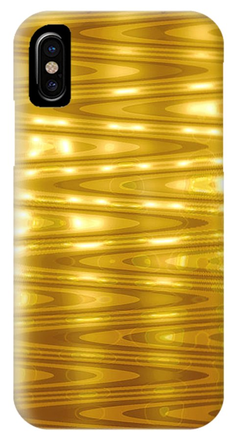 Moveonart! Global Gathering. Digital Abstract Art By Artist Jacob Kane -- Omnetra IPhone X Case featuring the digital art Moveonart Goldlightdream by Jacob Kanduch