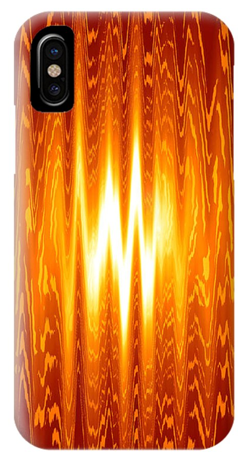 Moveonart! Global Gathering -- Digital Abstract Art By Artist Jacob Kane -- Omnetra IPhone X Case featuring the digital art Moveonart Knowwhentostop by Jacob Kanduch