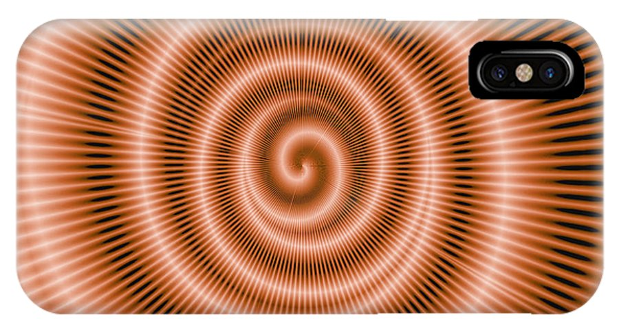 Moveonart! Global Gathering. -- Digital Abstract Art By Artist Jacob Kane -- Omnetra IPhone X Case featuring the digital art Moveonart Spiraldream by Jacob Kanduch