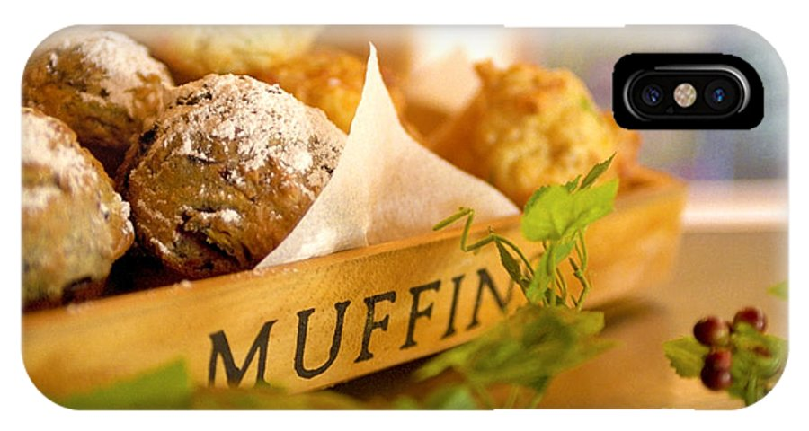 Baking IPhone X Case featuring the photograph Muffins Fresh And Warm by Bruce Stanfield