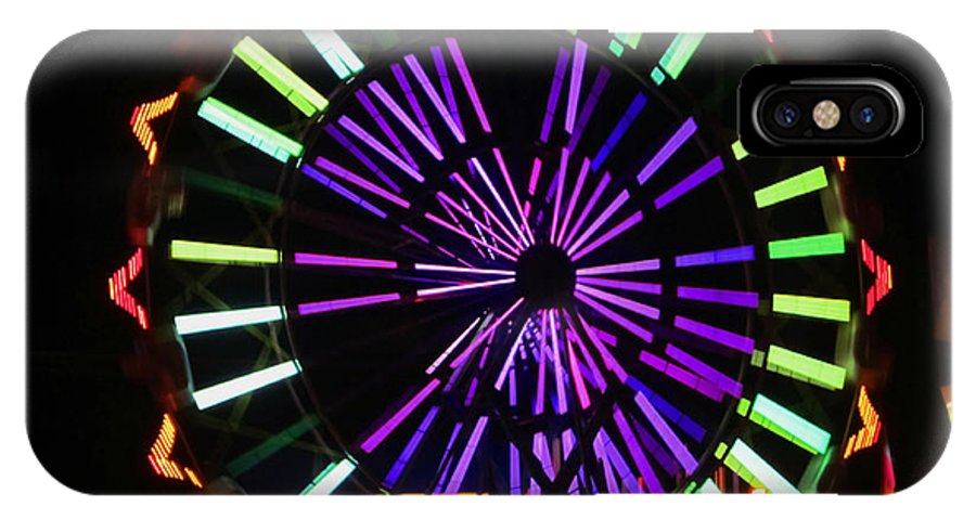 Ferris Wheel IPhone X Case featuring the photograph Multi Colored Ferris Wheel by Kym Backland
