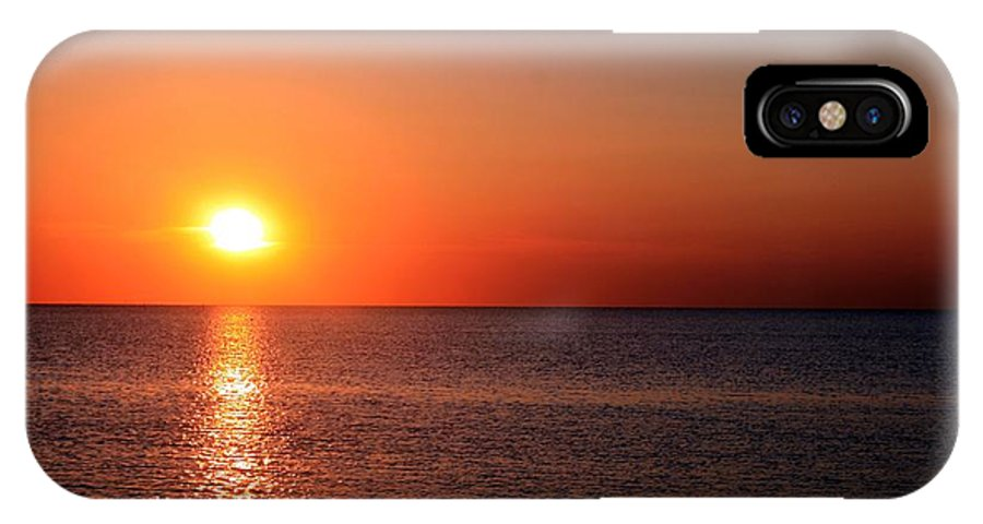 Orange IPhone X Case featuring the photograph Multi-colored Sunset by Christopher Hignite
