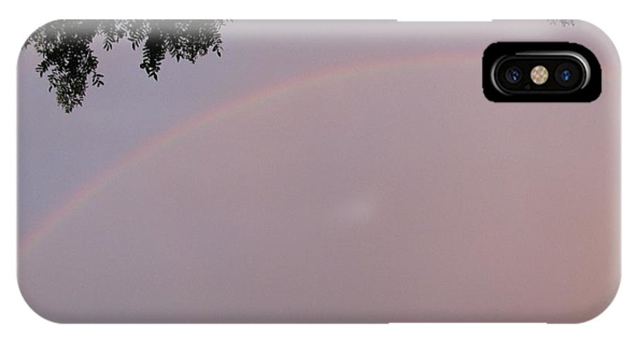 Rain Bow IPhone X Case featuring the photograph Multicoloured Arc by Sonali Gangane