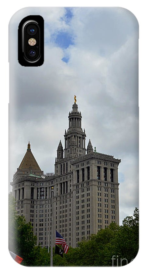 Building IPhone X Case featuring the photograph Municipal Building In New York by Pravine Chester