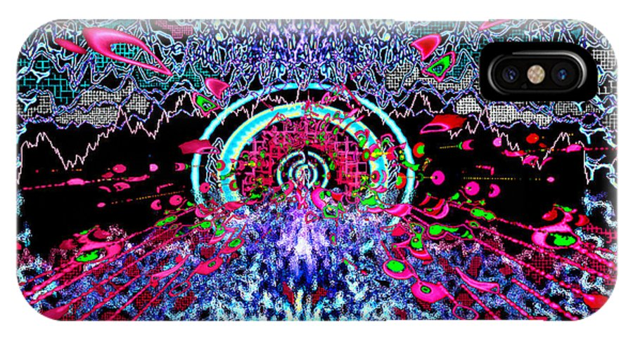 Music For The Eyes IPhone X Case featuring the digital art Music for the Eyes by Seth Weaver