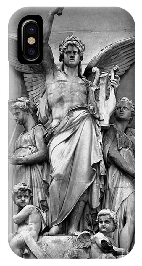 Statue IPhone X Case featuring the photograph Music by Shawna Gibson