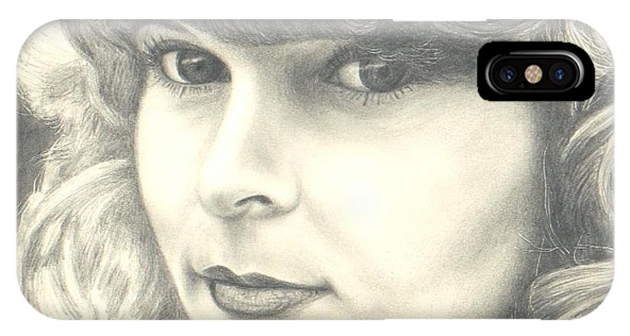 Portrait IPhone X Case featuring the drawing My Daughter by Susan Saver