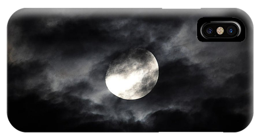 Moon IPhone X Case featuring the photograph Mystic Moon by Al Powell Photography USA