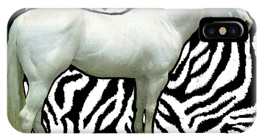 Horses IPhone X Case featuring the photograph Naked Zebra 1 by Bruce Iorio