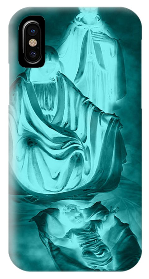 Nativity IPhone X Case featuring the photograph Nativity by Lourry Legarde