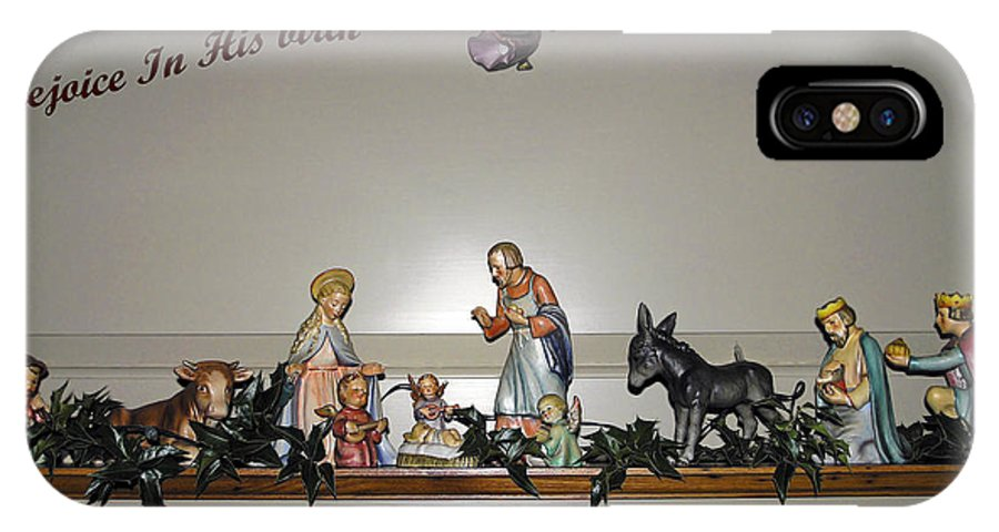 Hummel Nativity Set IPhone X Case featuring the photograph Nativity Set by Sally Weigand