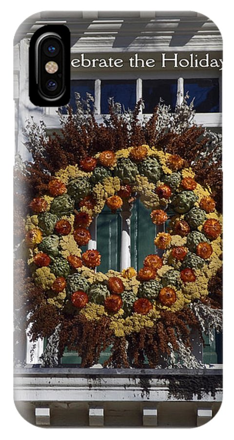 Large Wreath IPhone X Case featuring the photograph Natural Wreath by Sally Weigand