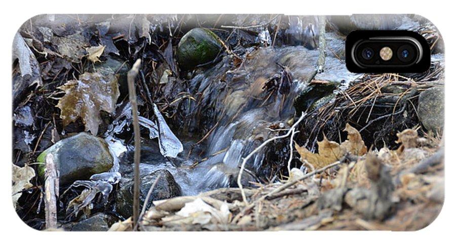 Usa IPhone X Case featuring the photograph Natures Ice Maker by LeeAnn McLaneGoetz McLaneGoetzStudioLLCcom