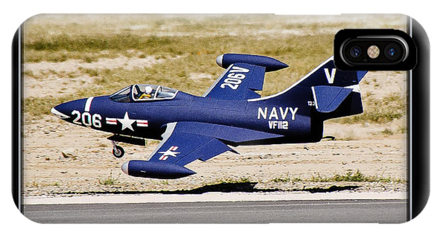 Plane IPhone X Case featuring the photograph Navy Landing by Larry White