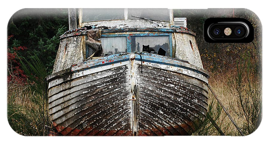 Fishing Boats IPhone X Case featuring the photograph Needing Work by Bob Christopher