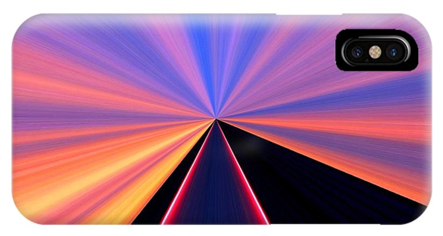 Neon Pinnacle IPhone X Case featuring the digital art Neon Pinnacle by Will Borden
