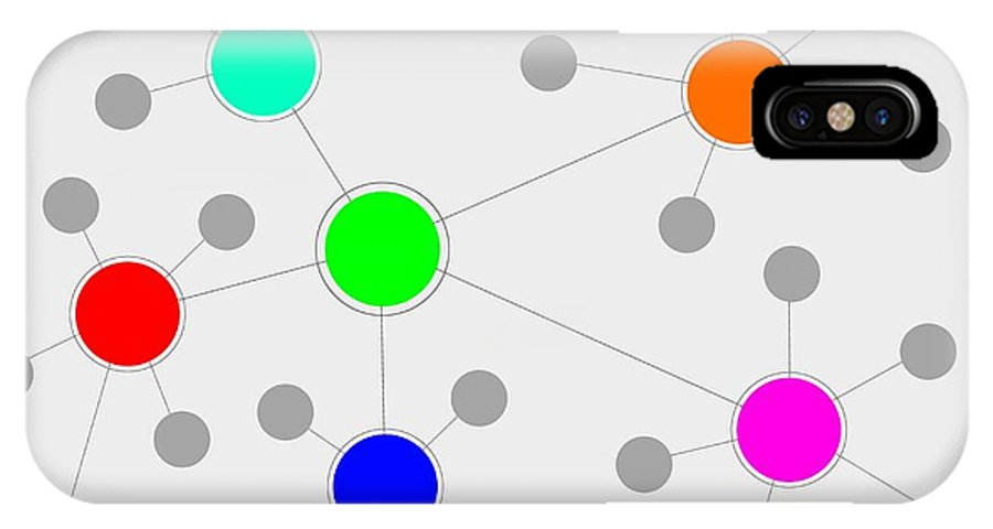 Network IPhone X Case featuring the digital art Network by Henrik Lehnerer